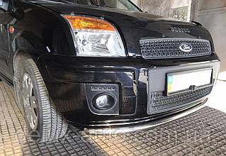 Защита переднего бампера Труба одинарная из нержавейка Передний радиус Ус на Ford Fusion 2002-2012