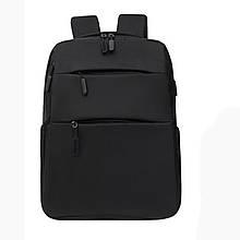 Рюкзак молодежный Backpack с USB черный (717755)