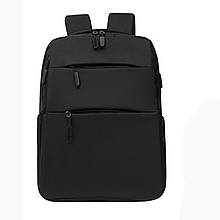 Рюкзак молодіжний Backpack з USB чорний (717755)