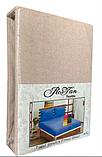 Махровая простынь на резинке 180*200 с наволочками Разные цвета RoYan Турция, фото 2