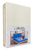 Махровая простынь на резинке 180*200 с наволочками Разные цвета RoYan Турция, фото 5