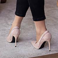 Туфли женские Fashion Guinness 2471 36 размер 23,5 см Бежевый