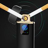 USB электро зажигалка cпиральная сенсорная электрическая с отпечатком пальца Lighter импульсная запальничка, фото 3