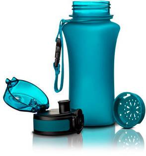 Пляшка для напоїв 350 мл Uzspace Wasser матова блакитна (серія 6007), фото 2