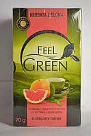 Зеленый чай Feel Green со вкусом Грейпфрута 40 пакетиков, Польша