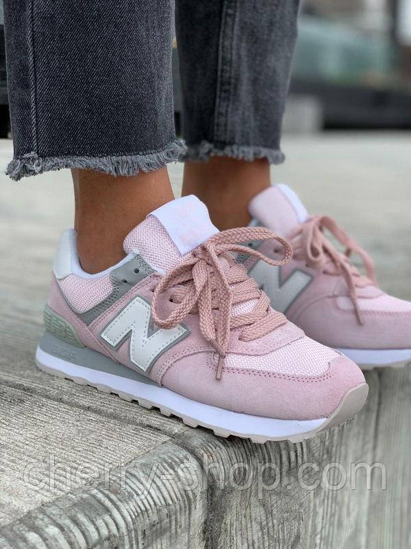 Женские кроссовки New Balance 574 pink, розовые женские кроссовки Нью Баланс