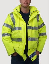 Куртка светоотражающая водонепроницаемая Police c подстежкой. Великобритания, оригинал.