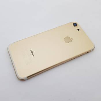 С дефектом. Крышка Apple iPhone 7 золото Оригинал с разборки