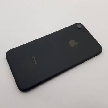 С дефектом. Крышка Apple iPhone 7 черная Оригинал с разборки