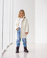 Дитяче класичне двобортне кашемірове пальто для дівчинки 6 років (122 ріст)