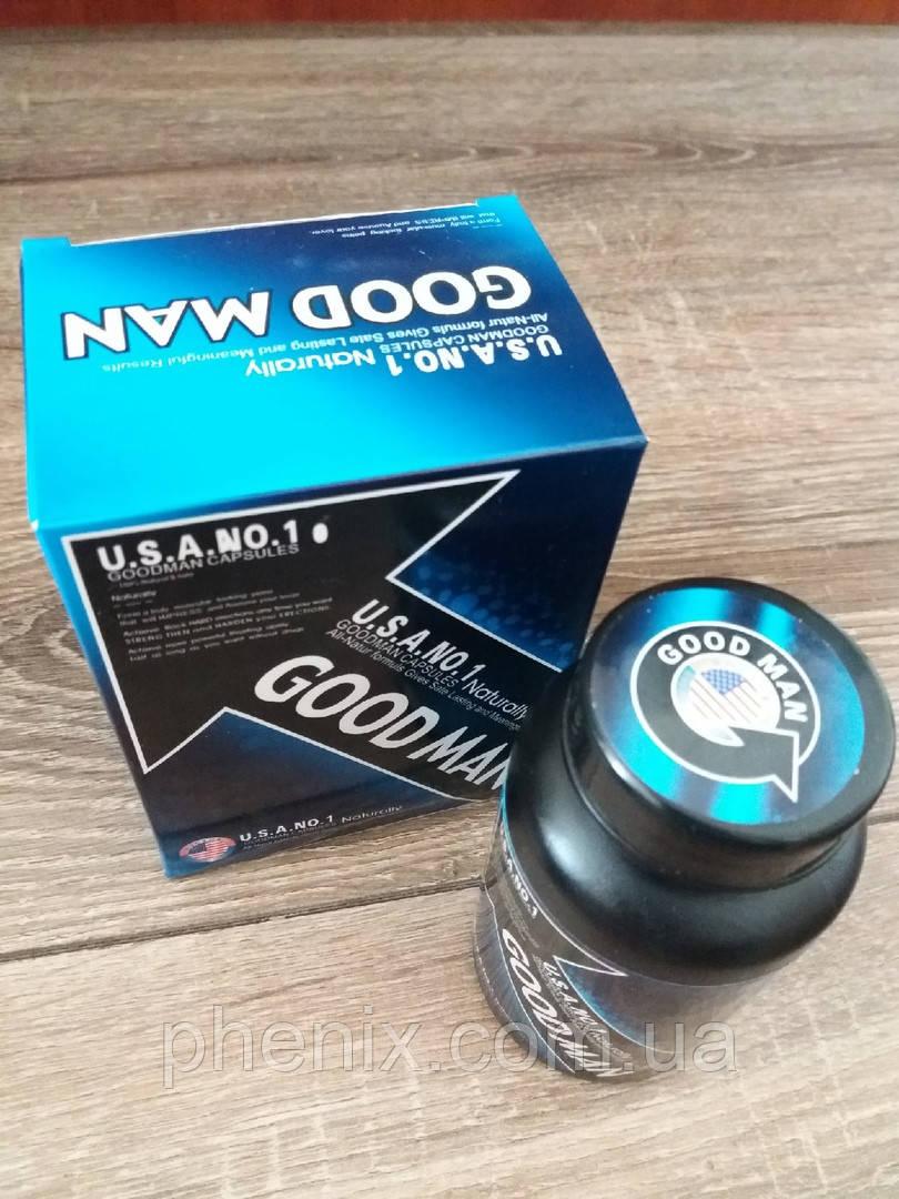 GoodMan (Гудмен) - длу улучшения потенции у мужчин. 60 капс. США