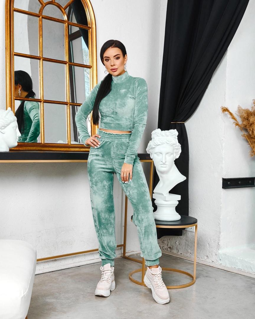 Жіночий велюровий спортивний костюм 642 (ФР)