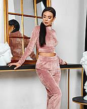 Жіночий велюровий спортивний костюм 642 (ФР), фото 3