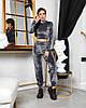 Жіночий велюровий спортивний костюм 642 (ФР), фото 5