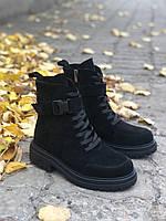 Женские замшевые ботинки на низком каблуке классические осень весна повседневные 36 размера M.KraFVT 249 2021