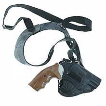 Кобура черная универсальная револьвер  кожа 1564