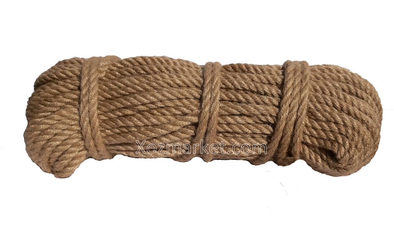 Канат 20мм/50 м джутовий (Мотузка канат джутовий)