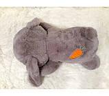 Плед - м'яка іграшка 3 в 1 ( Зайчик сірий ), фото 3