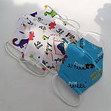 Багаторазова захисна маска для обличчя дитяча підліткова 2 шарова бавовна з машинами автівками авто динозавр, фото 7