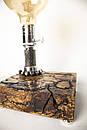 Ексклюзивна настільна лампа Pride&Joy Industrial з фігурами Ліхтенберга, фото 4