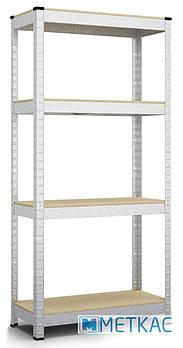 Стеллаж Бюджет ОД-1 160х80х30 Меткас, 175 кг, стеллаж на балкон, в гараж, для склада, для магазина, в подвал