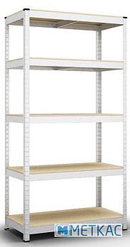 Стеллаж Бюджет ОД-6 180х90х50 Меткас, 175 кг, стеллаж на балкон, в гараж, для магазина, для инструментов