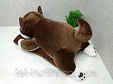 """Мягкая игрушка с пледом внутри """"Собачка"""" коричневая, фото 3"""