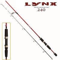 Спінінг штекерний Lynx 2.4 м 10-30 г 2к вудка вудилище