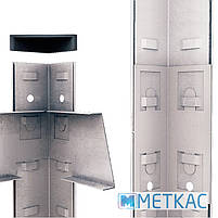 Стеллаж Бюджет ОМ-19 180х70х30 Меткас, 175 кг/полка, 4 полки, МДФ, оцинкованный, на балкон, фото 5