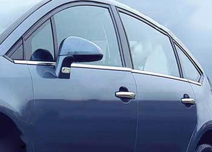 Citroen C-4 2005-2010 гг. Наружняя окантовка стекол (нерж.) Sedan, OmsaLine - Итальянская нержавейка