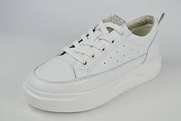 Кросівки на платформі Lonza 99568 37 Білі шкіра