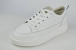 Кроссовки на платформе Lonza 99568 37 Белые кожа