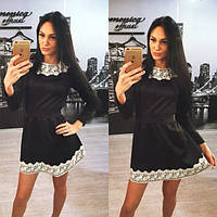 Платье черное до колен
