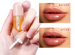Увлажняющий пухлый блеск для губ DEROL