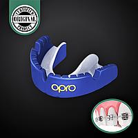 Професійна капа для боксу на брекети OPRO SELF-FIT GEN4 GOLD BRACES Полімер Синій (002227006), фото 1
