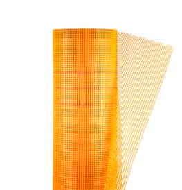 Фасадная сетка из стекловолокна оранжевая  MASTERNET 145 кг/м.кв. 1м*50м