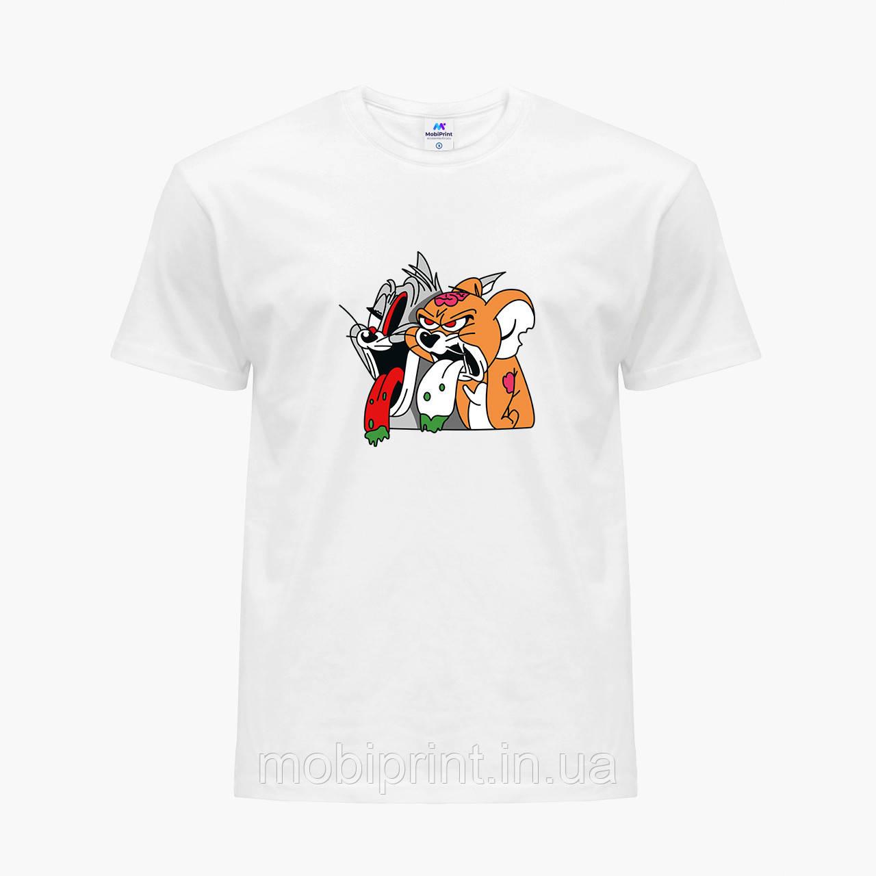 Футболка чоловіча Том і Джеррі (Tom I Jerry) Білий (9223-2089)