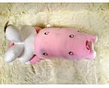 Плед - м'яка іграшка 3 в 1 (Зайчик рожевий), фото 3