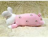 Плед - м'яка іграшка 3 в 1 (Зайчик рожевий), фото 2