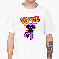 Футболка мужская Наруто Узумаки (Naruto Uzumaki) Белый (9223-2629) , фото 1