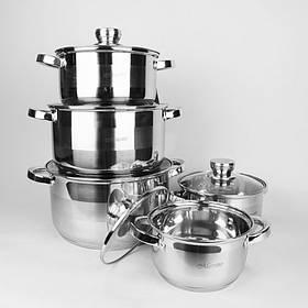 Набор посуды Maestro из нержавеющей стали 10 предметов MR-2220-10