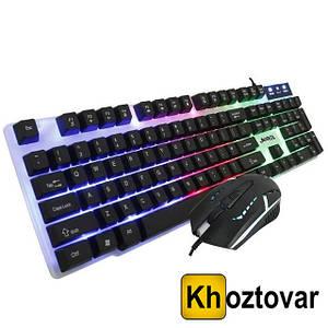 Комплект провідні ігрові клавіатура і миша Jedel Combo GK100