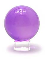 Шар хрустальный на подставке фиолетовый (11см)