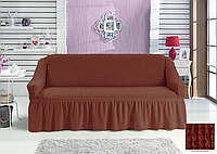 Чехлы Турецкие на диван Дивандеки на диван Накидки на мебель Цвет Кирпичный Размер универсальный
