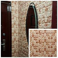 Панелі для стін самоклеючі 3D панелі цегла коричневий мармур. Декоративний цегла панель самоклейка,