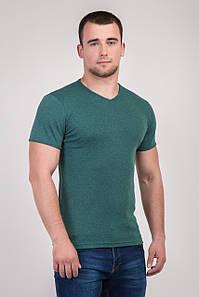Однотонна футболка прилеглого силуету (зелений)