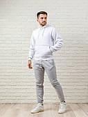 Мужской спортивный костюм бело-серый