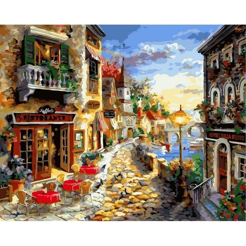Картина рисование по номерам Babylon Приморский бульвар. Худ. Никки Боем 40х50см VP300 набор для росписи,