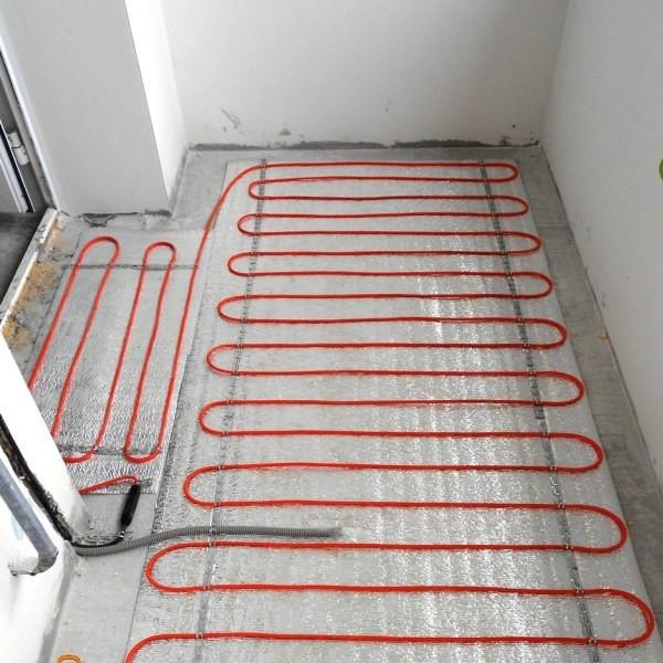 пример укладки электрического теплого пола