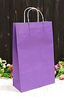 """Бумажный подарочный крафт пакет однотонный """"Фиолетовый"""" 24*37*10см 10шт/уп (100шт/ящ)"""